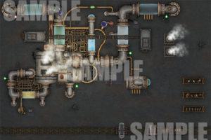 High Tech Battle Map for TTRPG