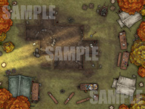 Escavation site TTRPG map D&D