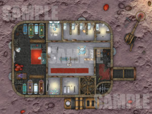 Sample Battle Map For Asteroid research facility