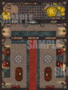Bank battle map for TTRPGs and Fantasy Grounds