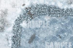 Frozen Wall TTRPG Map