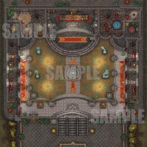 Grand Ballroom D&D Battlemap