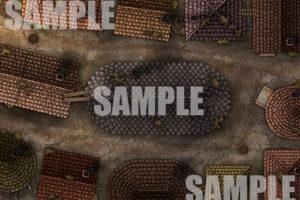City streets TTRPG Battle Map