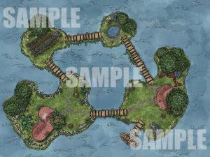 Animated Island Battle Map