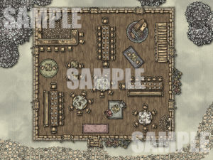 TTRPG battlemap of an Inn