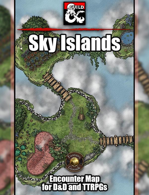 Sky Island D&D map cover