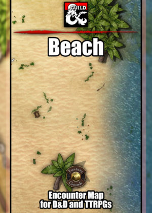 Beach TTRPG Battle Map for Fantasy Grounds