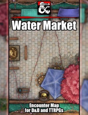 Water Market TTRPG Map