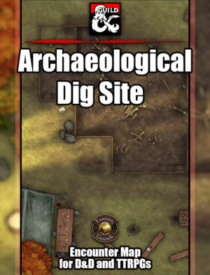 Archaeological dig site TTRPG map