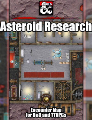Asteroid Research Facility TTRPG Battlemap