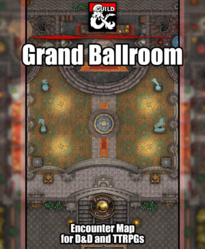 Grand Ballroom battlemap for D&D and fantasy grounds