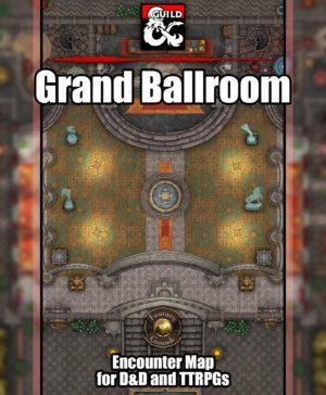 Grand Ballroom battlemap for D&D and fantasy grounds