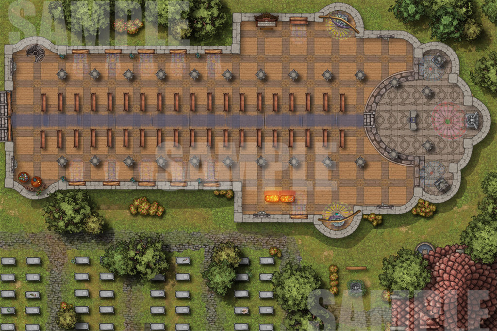 Cathedral battle map