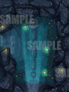 Flooded Elven Temple battlemap