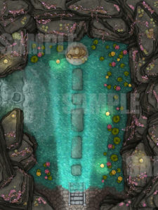 Day time water temple battle map
