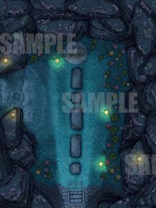 Beautiful temple TTRPG battle map