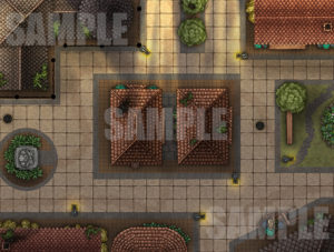 City Street battle map for D&D