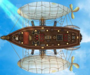Dirigible air ship battle encounter map for D&D with support for fantasy grounds