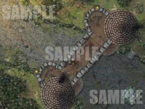Battle map with rain