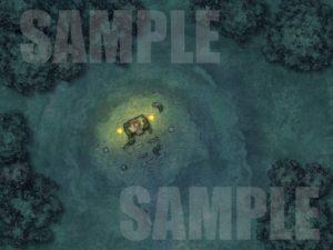 Druid throne battle map encounter for TTPRGs