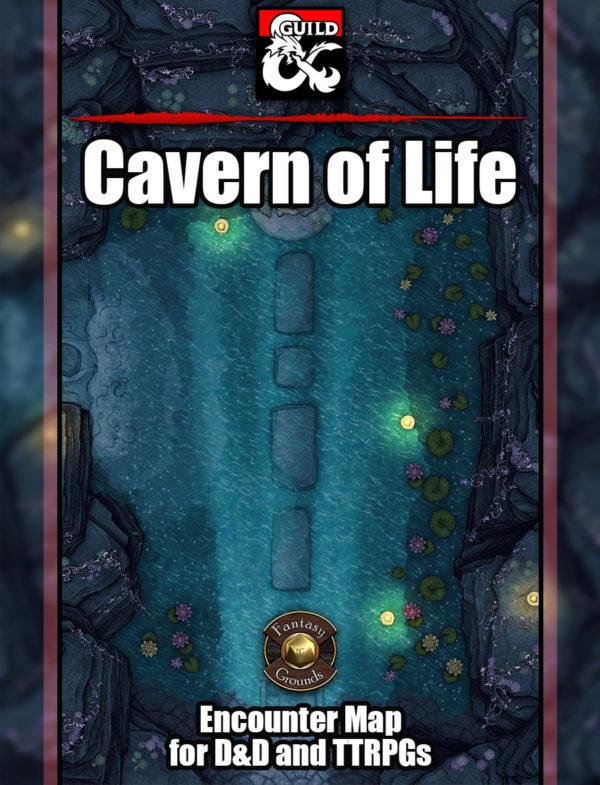 Cavern of life battlemap for D&D