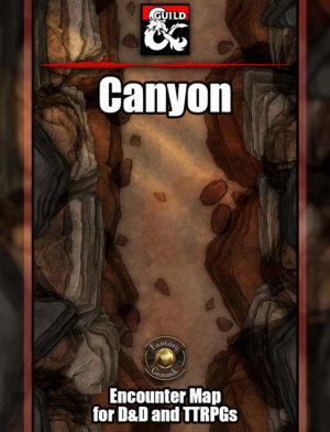 Canyon battlemap for TTRPGs