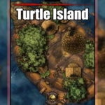Turtle island TTRPG battle encounter map