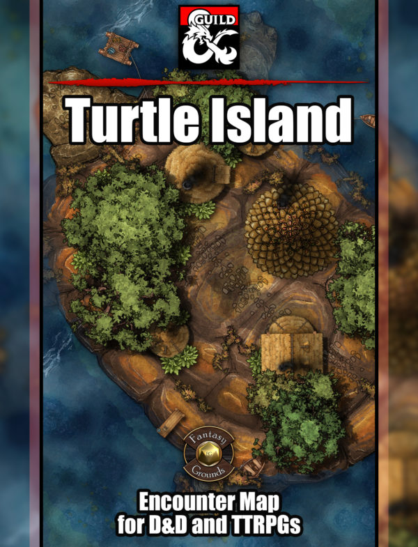Turtle island TTRPG battle encounter map