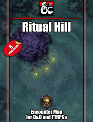 Ritual Hill battle map cover for D&D, possibly yester hill, with six variations for every game.