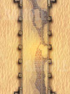 Desert bridge overrun with sand for D&D or Pathfinder battle encounters
