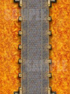 Bridge over lava battle encounter map for D&D or pathfinder