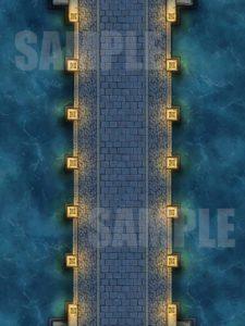 Night time bridge battle encounter map for pathfinder or D&D