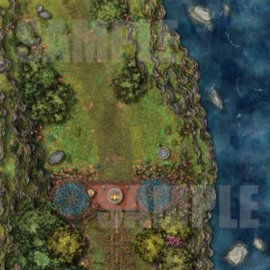 Elven guard post before entering a secret area battle map for D&D with fantasy grounds support
