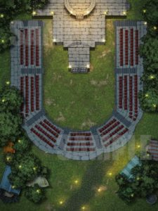 Amphitheater battle map encounter for D&D and Pathfinder
