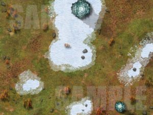 Snowy tundra arctic map for D&D