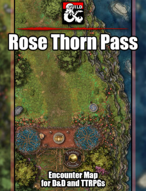 Secret elven pass battle map encounter for pathfinder and D&D with fantasy grounds support