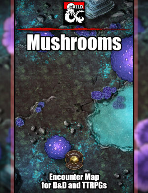 Mushrooms underdark battle map cover