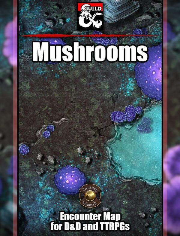 Mushrooms underdark battle map cover