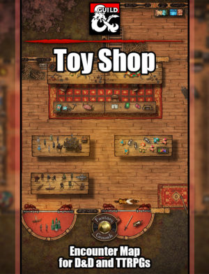 Toy shop battle encounter map for D&D and Pathfinder