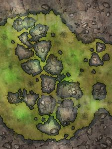 Toxic water map for D&D