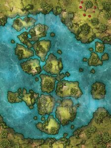 MP4 animated water map for TTRPGs