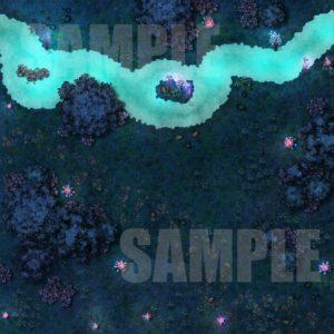 Dark forest animated battle maps for Foundry VTT