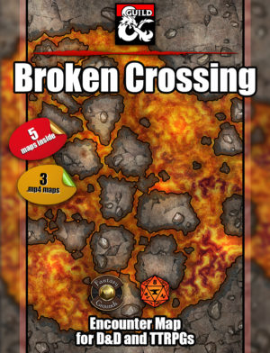 Broken crossing animated battle map cover