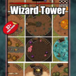 Endless wizard tower battle map for D&D with 37 floors and animation