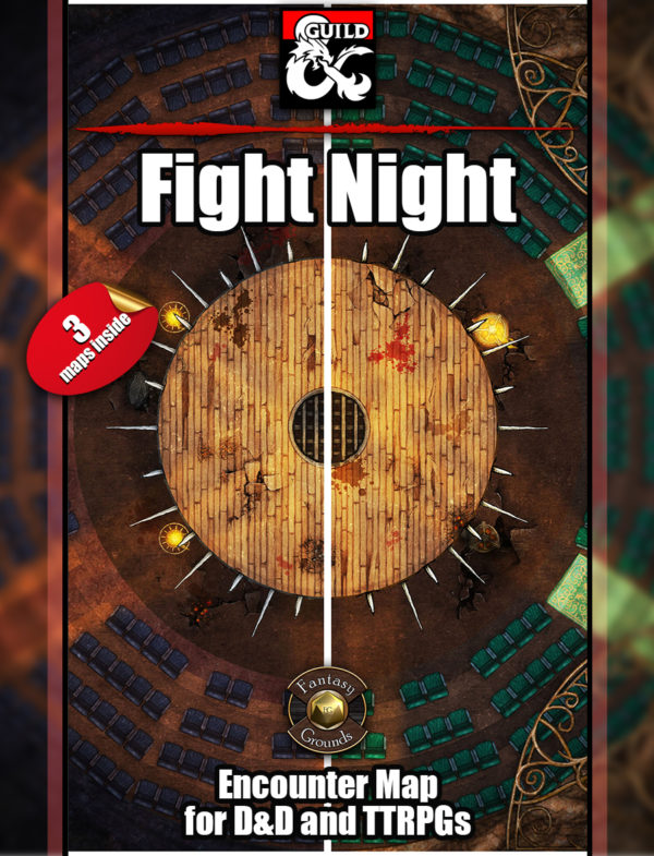 Fight Night D&D battle encounter map with fantasy grounds support