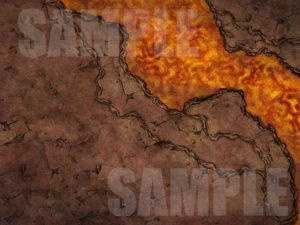 Pathfinder battle map encounter with lava river in hell