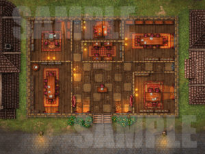 Law office and library battle encounter D&D map