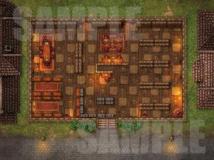 Legal library D&D battlemap