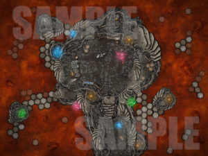Magical forge in lava - D&D battle map