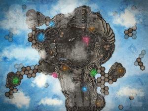 Magical sky forge, D&D battle map